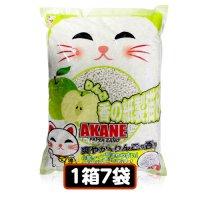 AKANE 小粒のリンゴ香り紙製猫砂7L(1箱7袋) 【送料無料】