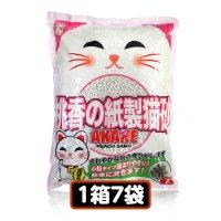 AKANE 小粒の桃香り紙製猫砂7L(1箱7袋)【送料無料】
