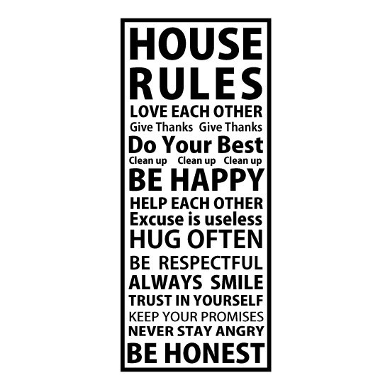 HOUSE RULES ウォールステッカー