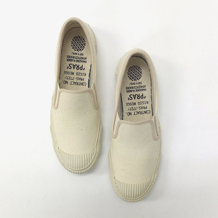 PRAS | SHELLCAP SLIP-ON | KINARI × OFF WHITE