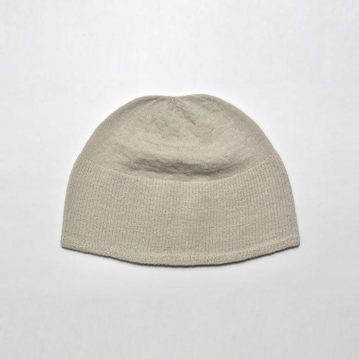 F/style | ホールガーメントのウールニット帽子 | ベージュ