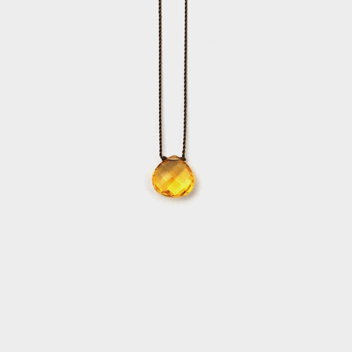 Margaret Solow | Faceted Stone Necklace | Citrine