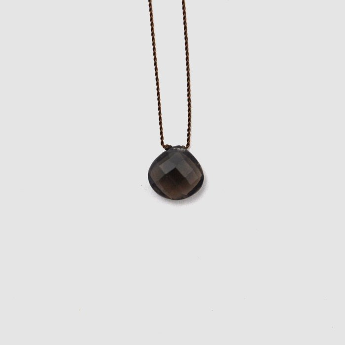 Margaret Solow | Faceted Stone Necklace | Smokey Quartz