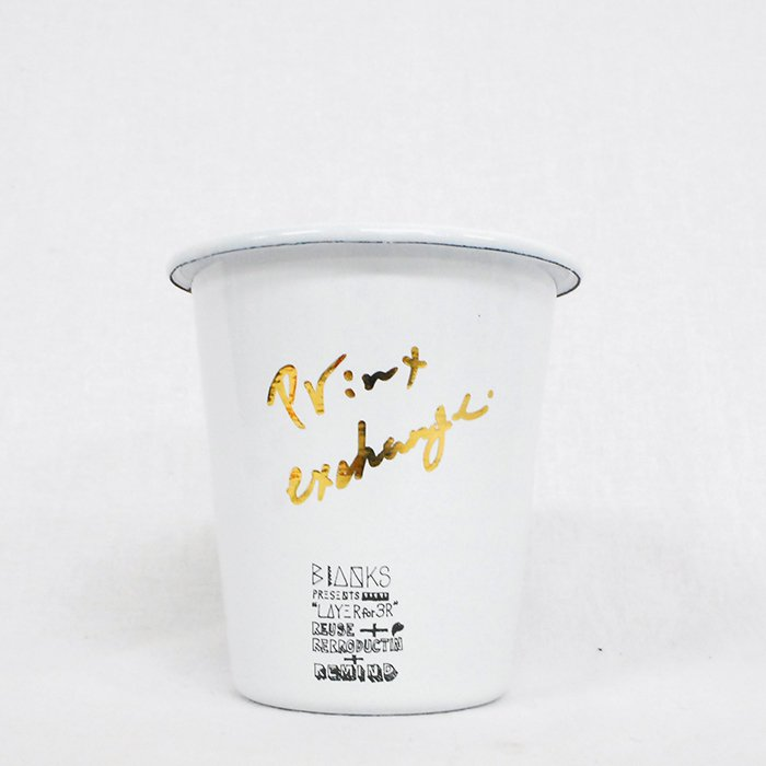 """BlANKS by Ryuji Kamiyama   BIANKS presents""""Layer for 3R""""Reuse+Reproduction+Remind   Cup"""
