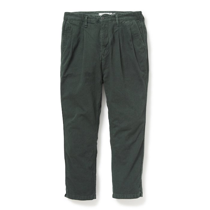 nonnative   CLERK ANKLE CUT TROUSERS RELAX FIT COTTON CHINO CLOTH OVERDYED   FOREST