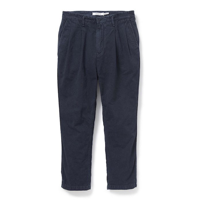 nonnative | CLERK ANKLE CUT TROUSERS RELAX FIT COTTON CHINO CLOTH OVERDYED | DEEP SEA