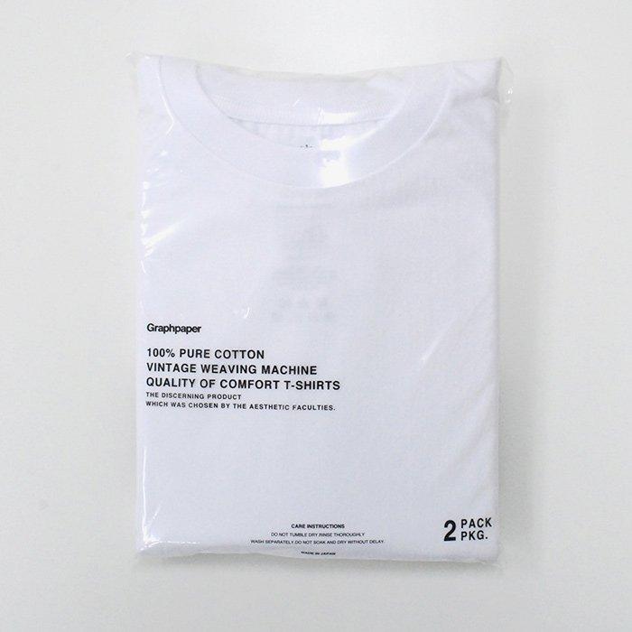 Graphpaper   UNISEX   Original 2-Pack Crew Neck Tee   WHITE