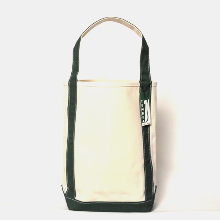 TEMBEA | BAGUETTE TOTE | NATURAL / GREEN