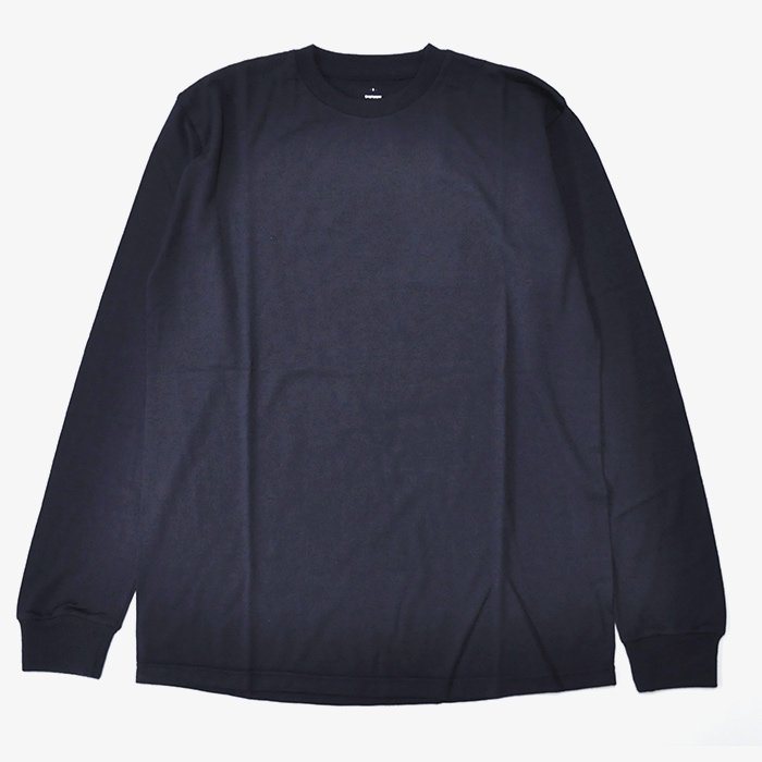 Graphpaper | UNISEX | Washable Wool Crew Neck Tee | NAVY