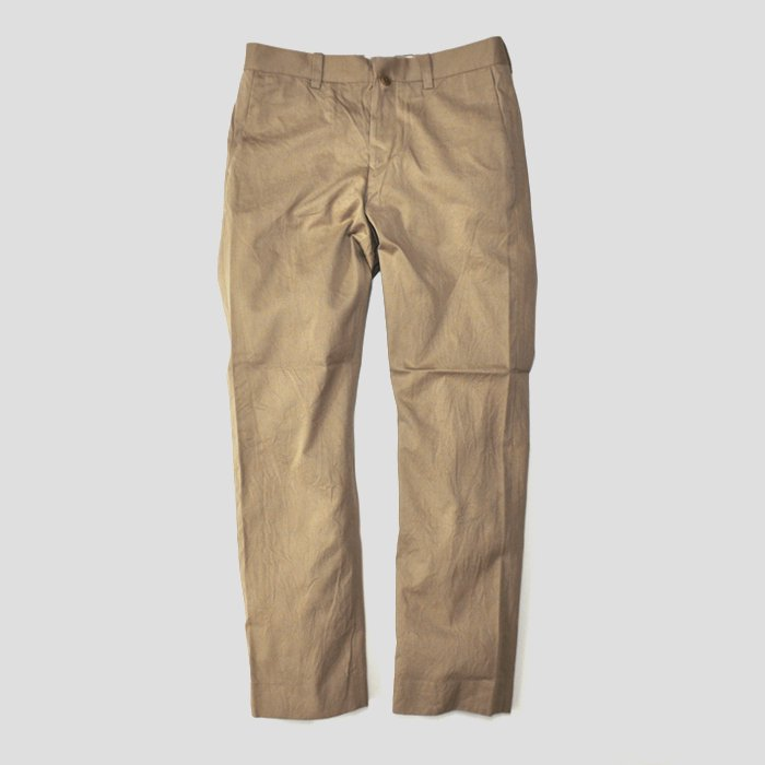 YAECA | MEN | 17652 CHINO CLOTH PANTS | PIPED STEM | KHAKI