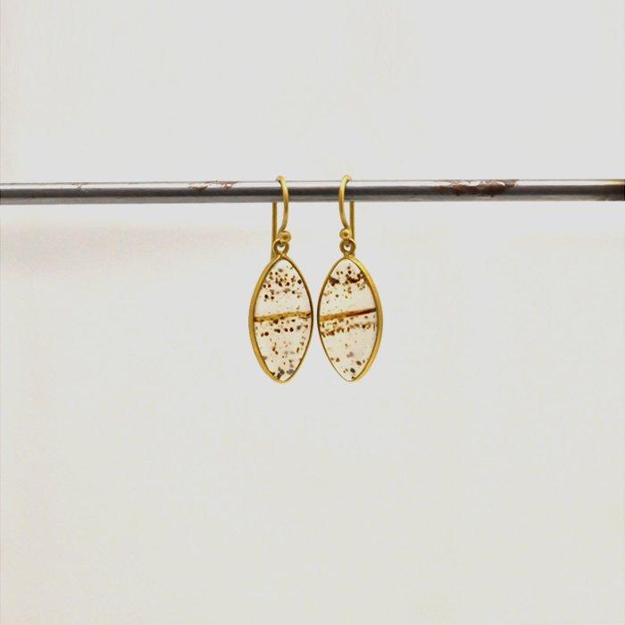 Tej Kothari | Medium Marquise Montana Agate Earrings