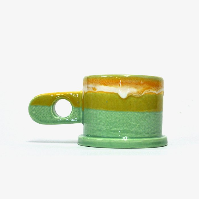 Echo Park Pottery | Mug | Yellow x Green