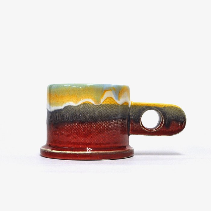 Echo Park Pottery | Mug | Yellow x Red