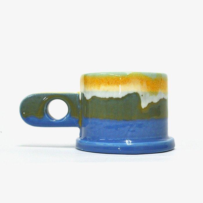 Echo Park Pottery | Mug | Yellow x Blue