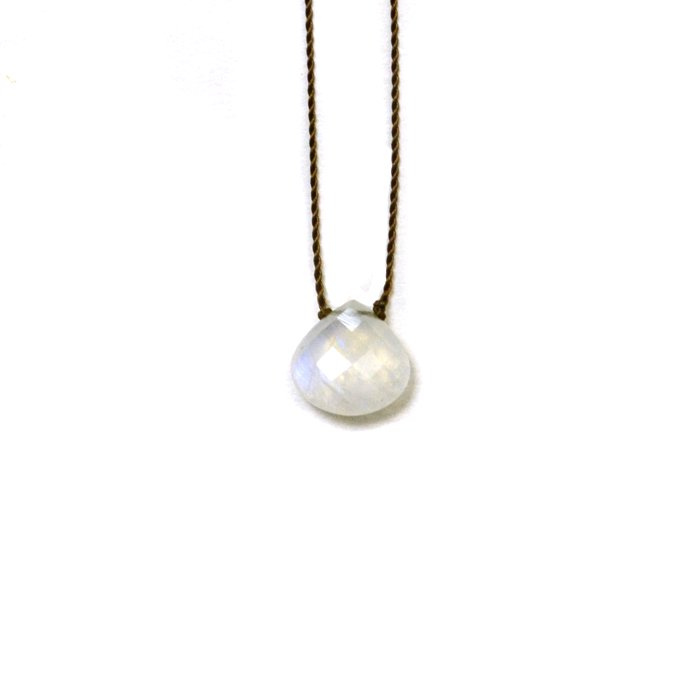 Margaret Solow | Faceted Stone Necklace | Rainbow Moonstone