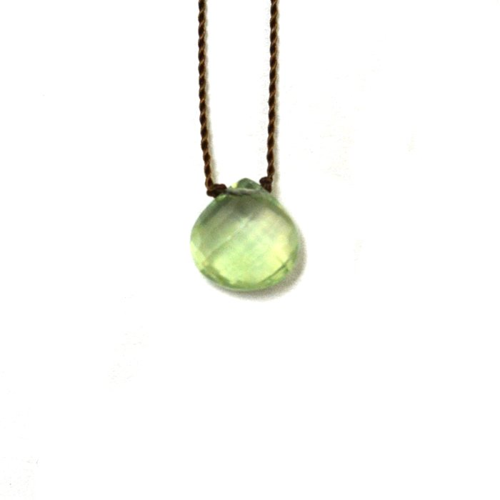 Margaret Solow | Faceted Stone Necklace | Prehnite