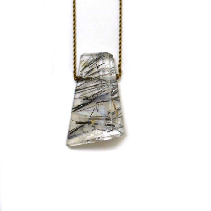 Margaret Solow | Geometric Tourmalated Quartz Necklace