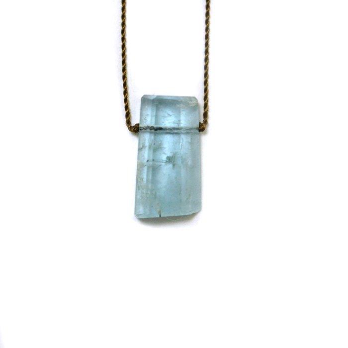 Margaret Solow | Small Geometric Aquamarine Necklace