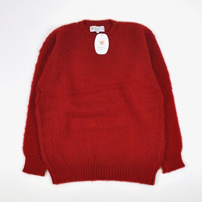 Shetland Woollen Co  | Plain Shaggy Dog Crew Neck Knit | Tudor -  Stripe-inc  Online Shop