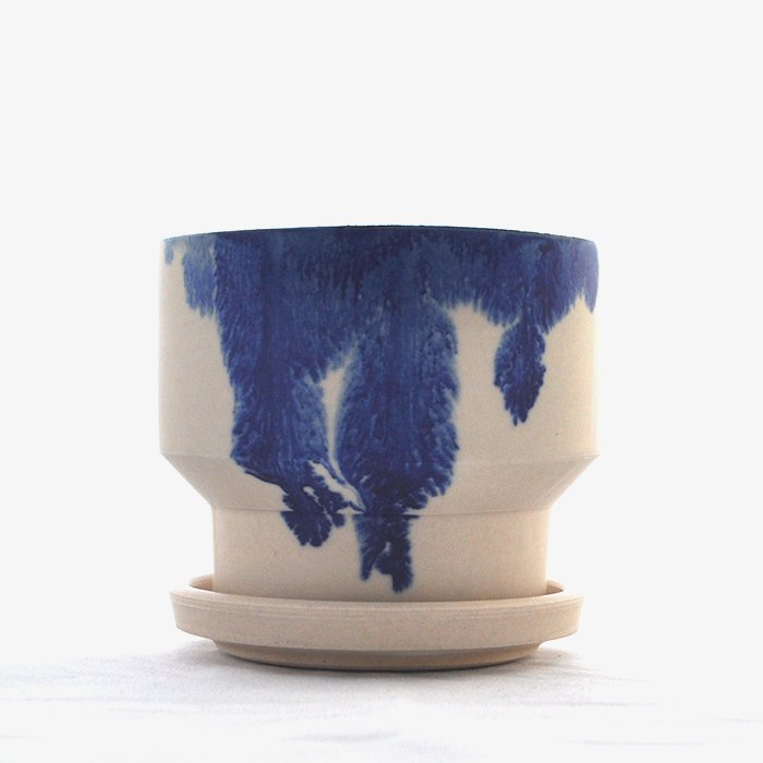 MISHIM POTTERY CREATION | DRIPS series | Green Pot | SS