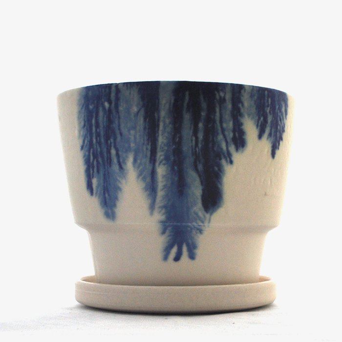 MISHIM POTTERY CREATION | DRIPS series | Green Pot | S