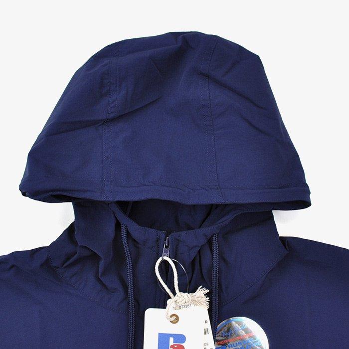 BLUE BLUE   WOMEN   RUSSELL・BLUE BLUE NYLON STRETCH WOMENS ANORAK COAT   NAVY