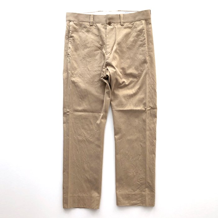 YAECA | MEN | 19608 CHINO CLOTH PANTS | PIPED NARROW | KHAKI