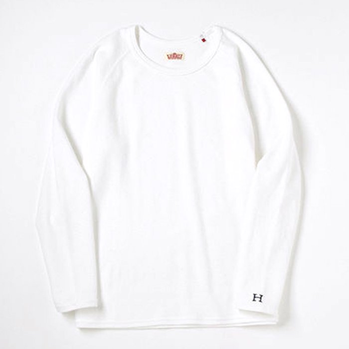 HOLLYWOOD RANCH MARKET | ストレッチフライス CNリラックスフィットLS Tシャツ | ウイメンズ | WHITE