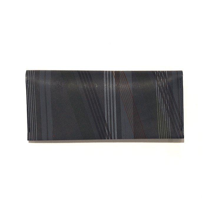 POSTALCO | Wheel Printed Long Card & Coin Wallet | Charcoal Gray