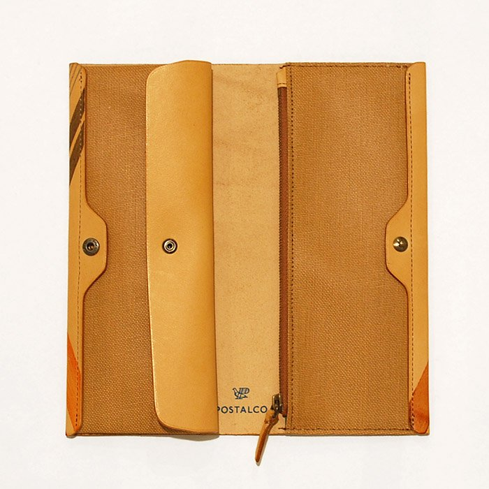 POSTALCO | Wheel Printed Long Card & Coin Wallet |  Brown