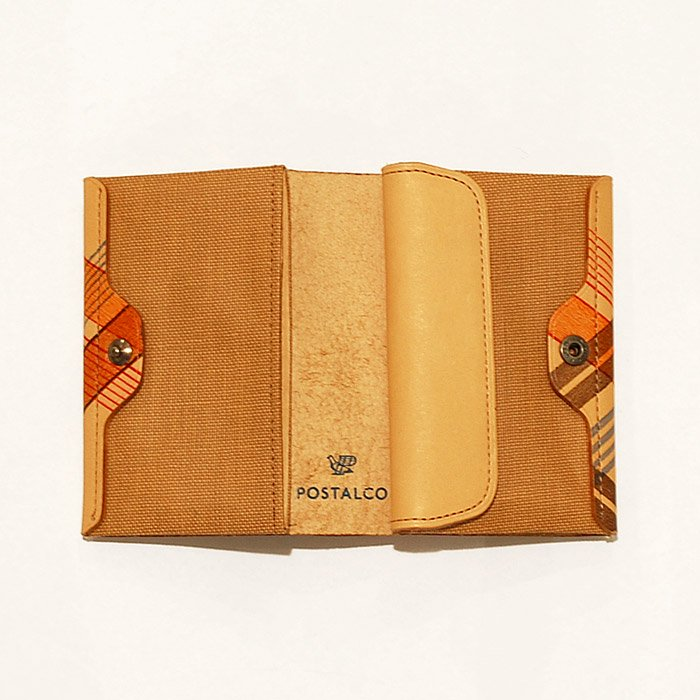 POSTALCO | Wheel Printed Card & Coin Wallet | Brown