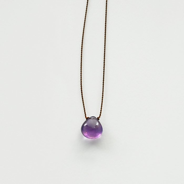Margaret Solow | Smooth Stone Necklace | Amethyst