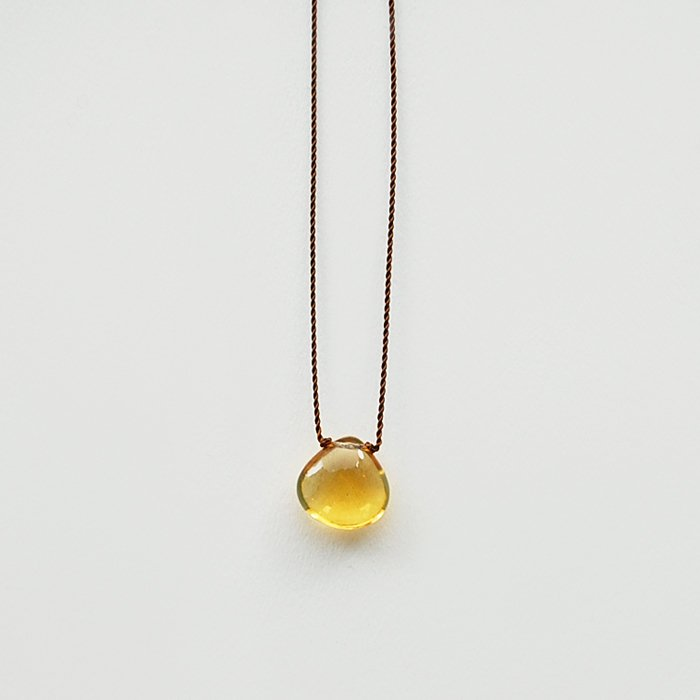 Margaret Solow | Smooth Stone Necklace | Citrine