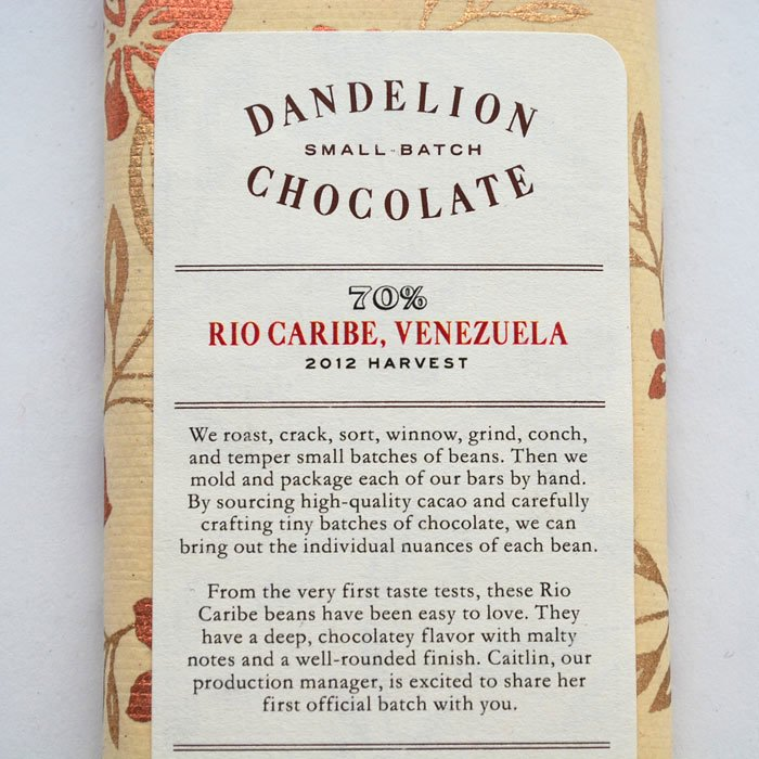 GOOD NEIGHBOR'S FINE FOODS | Dandelion Chocolate | Rio Caribe, Venezuela -70%