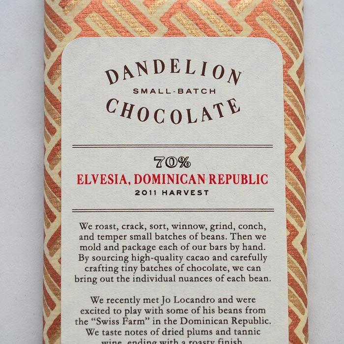 GOOD NEIGHBOR'S FINE FOODS | Dandelion Chocolate | Elvesia, Dominican Republic -70%