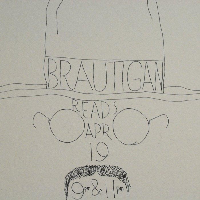 COWBOOKS | Richard Brautigan Handbill Poster | Coffee Gallery Handbill