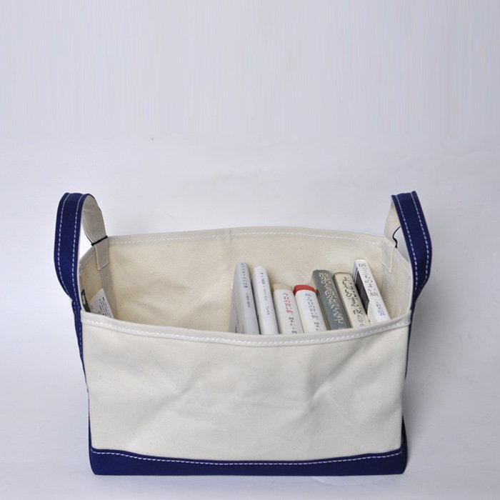 TEMBEA | BOOK TOTE SMALL | NATURAL / NAVY