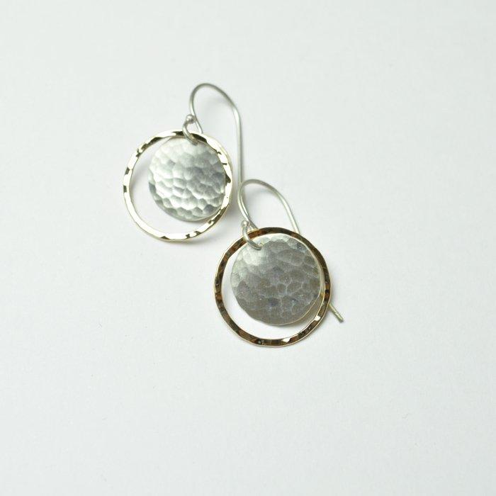 Marjorie Victor | Disk in Hoop Earrings