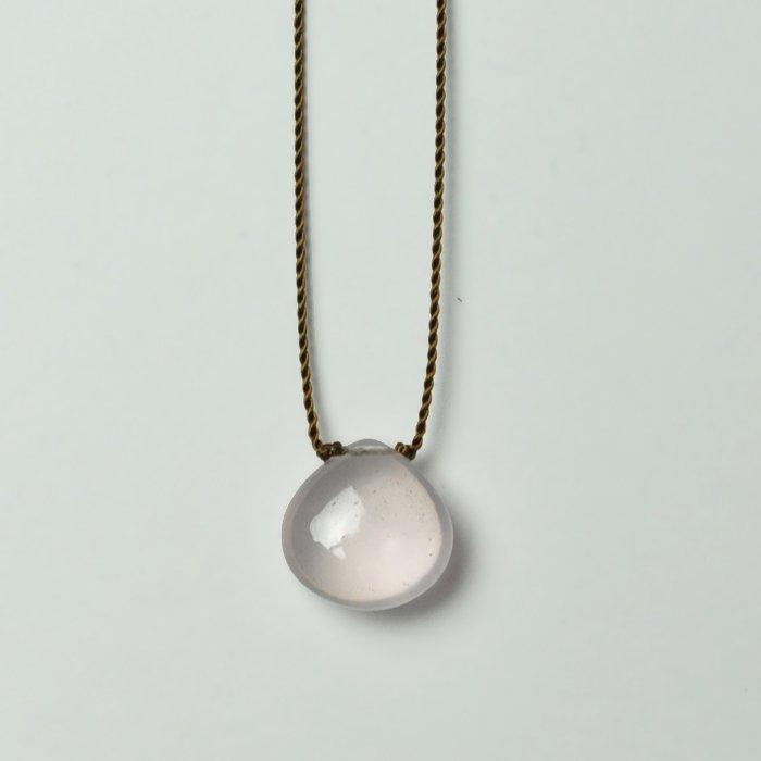 Margaret Solow | Smooth Stone Necklace | Rose Quartz