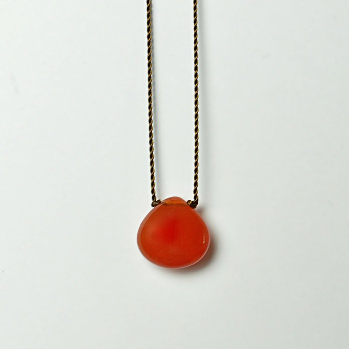 Margaret Solow | Smooth Stone Necklace | Carnelian