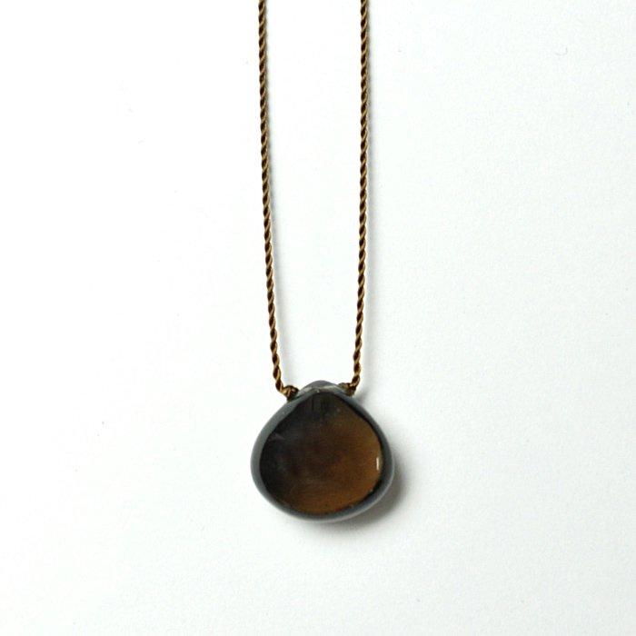 Margaret Solow | Smooth Stone Necklace | Smokey Quartz
