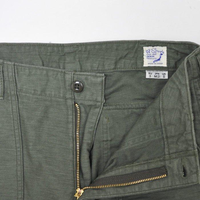 orSlow | Women | Slim Fit Fatigue Pants | Green