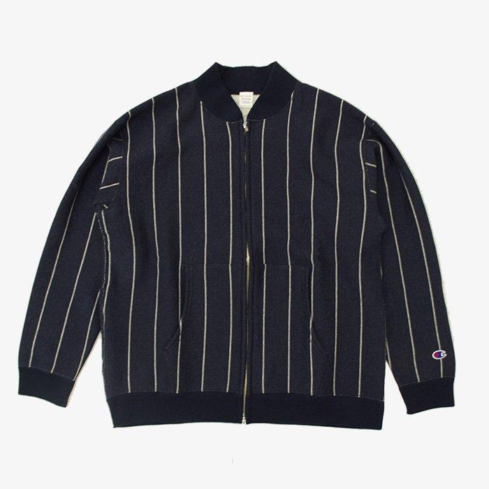 Champion | Stripe Sweat Jacket | Navy