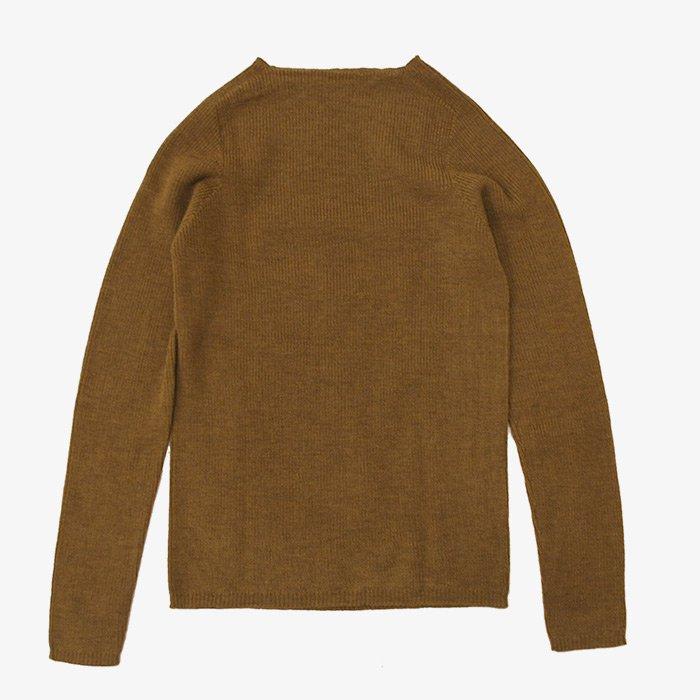 F/style | ホールガーメントのリブ編みウールニット | キャラメル