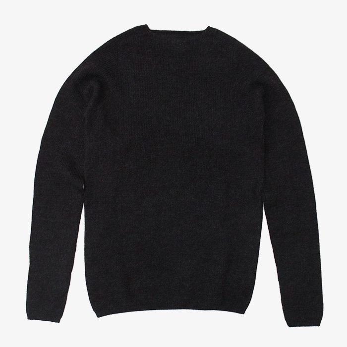 F/style | ホールガーメントのリブ編みウールニット | ブラック