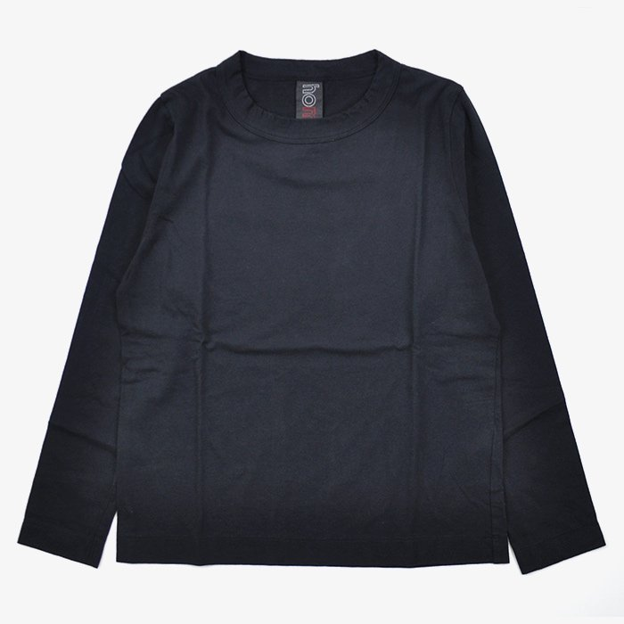 homspun | 30/1 天竺 長袖Tシャツ | ブラック