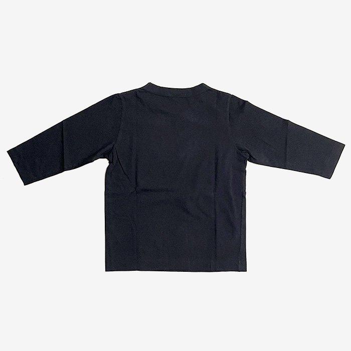 homspun | 30/1 天竺 七分袖Tシャツ | ブラック