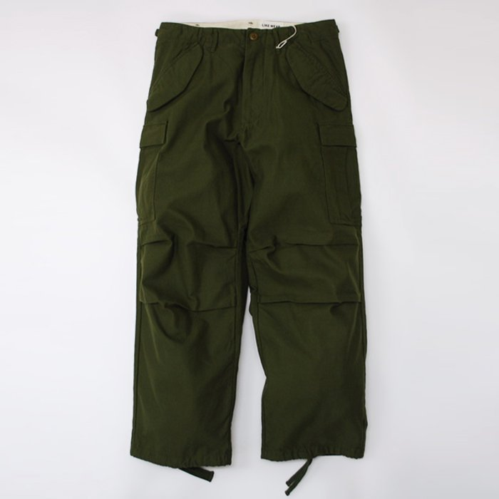 YAECA | MEN | 166012 LIKE WEAR FATIGUE PANTS | OLIVE (SATIN)