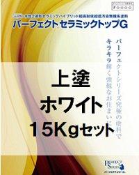 ニッペ パーフェクトセラミックトップG (上塗) (艶有・3分艶有) ホワイト 15Kgセット/2液 水性 無機 日本ペイ…