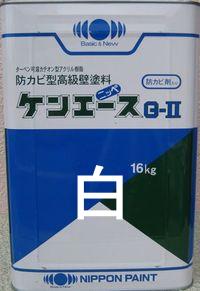 ケンエースG-Ⅱ(艶消し) ホワイト 16Kg